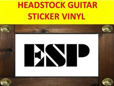 ESP BLACK STICKER VINYL HEADSTOCK GUITAR PRODUCT ON SALE UNTIL END OF STOCK