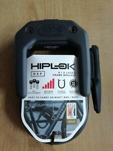 Hiplok Bicycle DXF D Lock With Frame Clip All Black