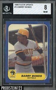 1986 Fleer Update Baseball Barry Bonds Pirates # 14 BVG 8 NM-MT
