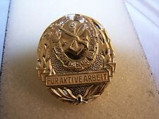 East German badge for Active Labor Sports, GST Award. New old stock, c.1980's.