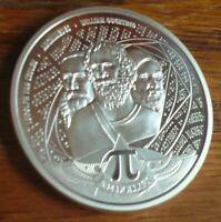 2020 Solomon Islands Number Pi 3.14, 1 oz .999 Silver BU Round Coin