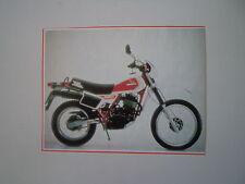 - RITAGLIO DI GIORNALE ANNO 1982 - MOTO HONDA XL 500 R