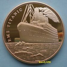 """💥 RMS Titanic """"In memory of Titanic"""" coin Gold Plated 1oz"""