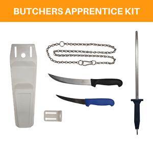 Butcher's Apprentice Beginner Chef Hunter Knife Steel Pouch Chain Tool Kit