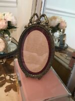 Beautiful Vintage Metal Barbola Bow Picture Gilded Italian Frame