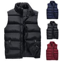 Mens Sleeveless Warm Vest Parka Puffer Down Waistcoat Jacket Overcoat Outwear