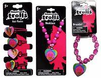 H.E.R.* Accessories GOOD LUCK TROLLS Pink+Fuchsia NECKLACE+BRACELET *YOU CHOOSE*