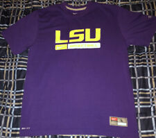 LSU Nike Basketball Shirt Purple Large Dri Fit