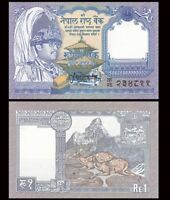 NEPAL 1 Rupee, 1991, P-37, King Bikhram/Deer, UNC World Currency