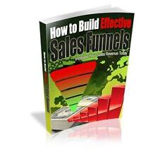 How To Build Effective Sales Funnel Ebook On CD $5.95 + Resale Rights Ships Free