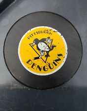 Vintage Pittsburgh Penguins Official NHL Puck John A Ziegler Jr. Trench RARE