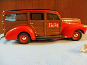ERTL COLLECTIBLES DO IT BEST 1940 FORD WOODY WAGON BANK #1360SR