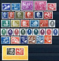 DDR Jahrgang 1950 postfrisch MNH jede MiNr 1x mit Block