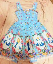 Cosplay Sweet Love Lolita Vintage Fairy Tale Alice JSK Princess Dress (sky blue)