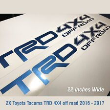 Toyota TRD 4X4 Off-Road Racing Tacoma Tundra Truck off road Pair Decal Bright B