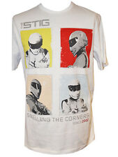 BBC Top Gear: Stig Retrò T-shirt MEDIUM Official Merchandise 100% COTONE BIANCO