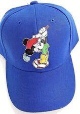 Mickey golfer sports baseball golf heat transfer blue hat new