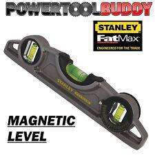Stanley STA043609 FatMax Magnétique Torpedo Niveau à bulle 25 cm 3 Flacons de Poche Bateau