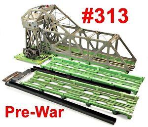 Lionel Pre-War #313 Bascule Bridge w/Extra Pieces /1/ 1940-42