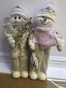 Father Christmas And Snowman Figures