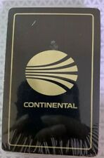 NEW SEALED LIMITED EDITION Continental Airlines Black Playing Cards - 1 Deck