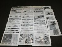 "VINTAGE 19"" X 12 1/2"" ILLUSTRATED CURRENT NEWS LARGE LOT 58 HISTORY PHOTOS WWII+"