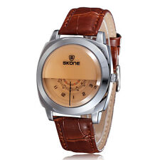 Skone Fashion Cool Men Watch with Three Dial One H/Min/S Hand Water-proof