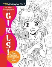 Manga Artists Adult Colouring Book Kawaii Anime Japanese Graphic Novel Cute Gift