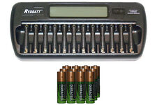 12 Bay AA/AAA LCD Battery Charger + 12-Pack AA 2450 mAh Duracell NiMH Batteries
