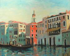 "Well Listed Nino Pippa Original Oil Painting Venice Renoir Interest 24""X30"" COA"
