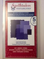 Spellbinder Nestabilities Cutting Dies Large Deckled Rectangles S4-202 New