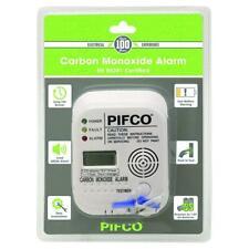 Pifco Carbone monoxyde Numérique Détecteur Alarme Fort 85 DB Pile inclus Blanc