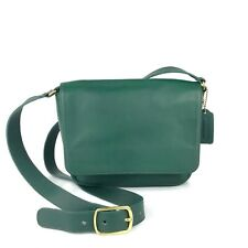 COACH RARE Vintage Green Leather Bistro Crossbody Bag