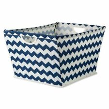 Bin Organizers And Storage Toy Basket For Blankets White Blue Nautical Container