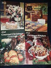 4 Ideals Vintage Cookbooks Cookies, Christmas lot