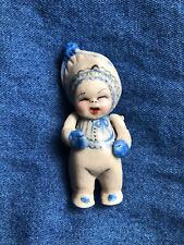 Nita Gehlhardt Original OOAK miniature Porcelain Doll, signed.1975 2.75