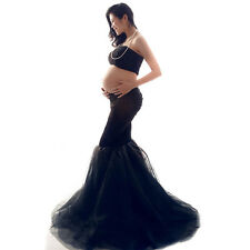 Maternity Photography Props Maternity Dress For Pregnant Fancy Photo Shoot Black