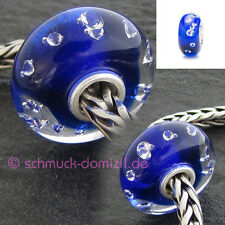 "TROLLBEADS ""Diamanten"" Bead Blau - The Diamond Bead, Blue 81007 - 16"