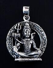Pendentif Lord Shiva en Argent 925 15 g  Amulette Bijoux deité Hindou K50 25409