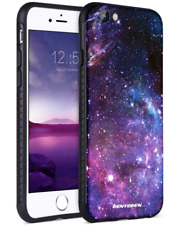 iPhone 8 Case, 7, BENTOBEN Slim Hybrid Hard PC Soft TPU Bumper with Space Nebula