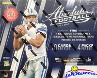 2017 Panini Absolute Football EXCLUSIVE Factory Sealed MEGA Box-2 AUTOGRAPH/MEM