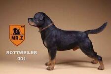 Realistic Rottweiler  Sitting Dog Life Like Figurine Statue Home/Garder NEW