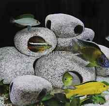 New STONE Aquarium Ornament Cichlid Rock Cave decor bonsai hide fish tank UK
