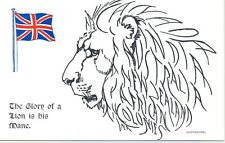 Postcard - Patriotic - Empire - The Glory of a Lion is his Mane