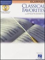 Classical Favorites Clarinet Instrumental Play-Along Sheet Music Book/CD