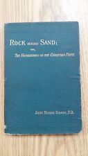 ROCK VERSUS SAND - J M GIBSON - JAMES NISBET- 1883 H/B - £3.25 UK POST