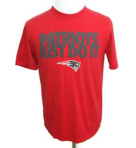 NEW ENGLAND PATRIOTS Men's (Large) Red NIKE Short Sleeve T-Shirt NFL Football