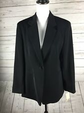 NEW Amanda Smith Women's Size 10 Black 1 Button Suit Blazer ONLY Career Wear. AB