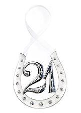 Hanging 21st Birthday (Silver/Crystal)