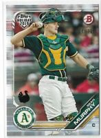 2019 Topps Bowman Holiday Turkey Parallel Sean Murphy 34/35 Oakland Athletics